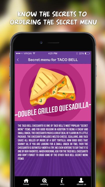 Secret Menu for Taco Bell