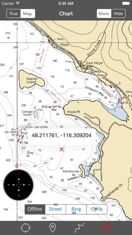 Lake Pend Oreille (Idaho) – Raster Nautical Charts screenshot-3