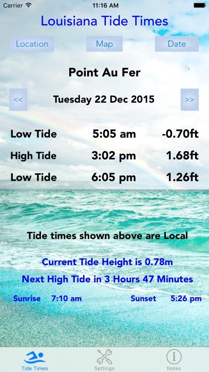 Louisiana Tide Times