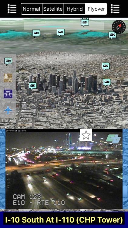 California NOAA Radar and Traffic Camera 3D Pro screenshot-3