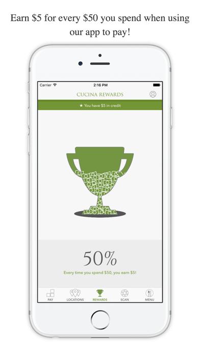 Cucina Rewards screenshot 1