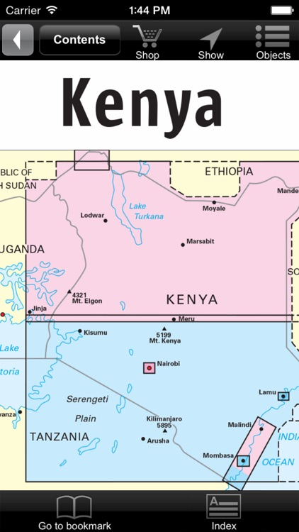 Kenya. Tourist map screenshot-0