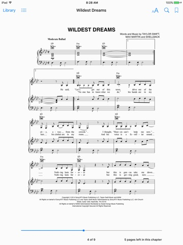 Wildest Dreams Sheet Music by Taylor Swift on iBooks