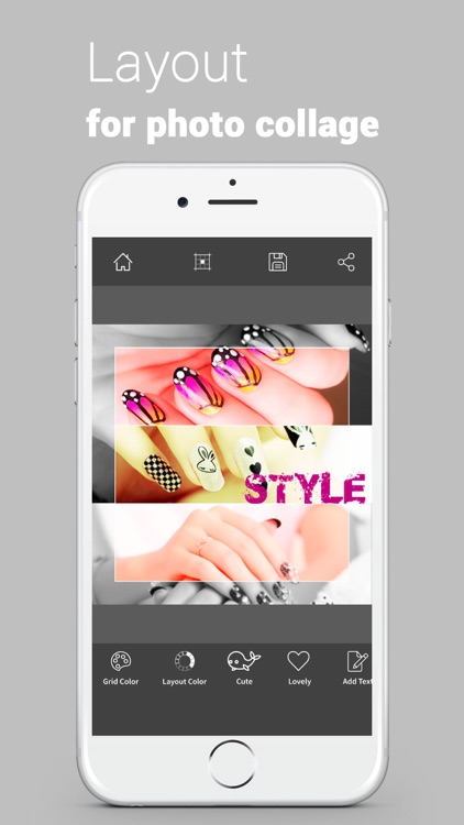 Layout from Limitless Pro - a Photo Collage with Grid and Color for layout Instagram