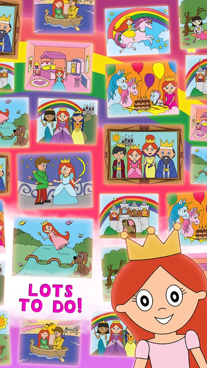 Princess Fairy Tale Coloring Wonderland for Kids and Family Preschool Ultimate Edition screenshot-2