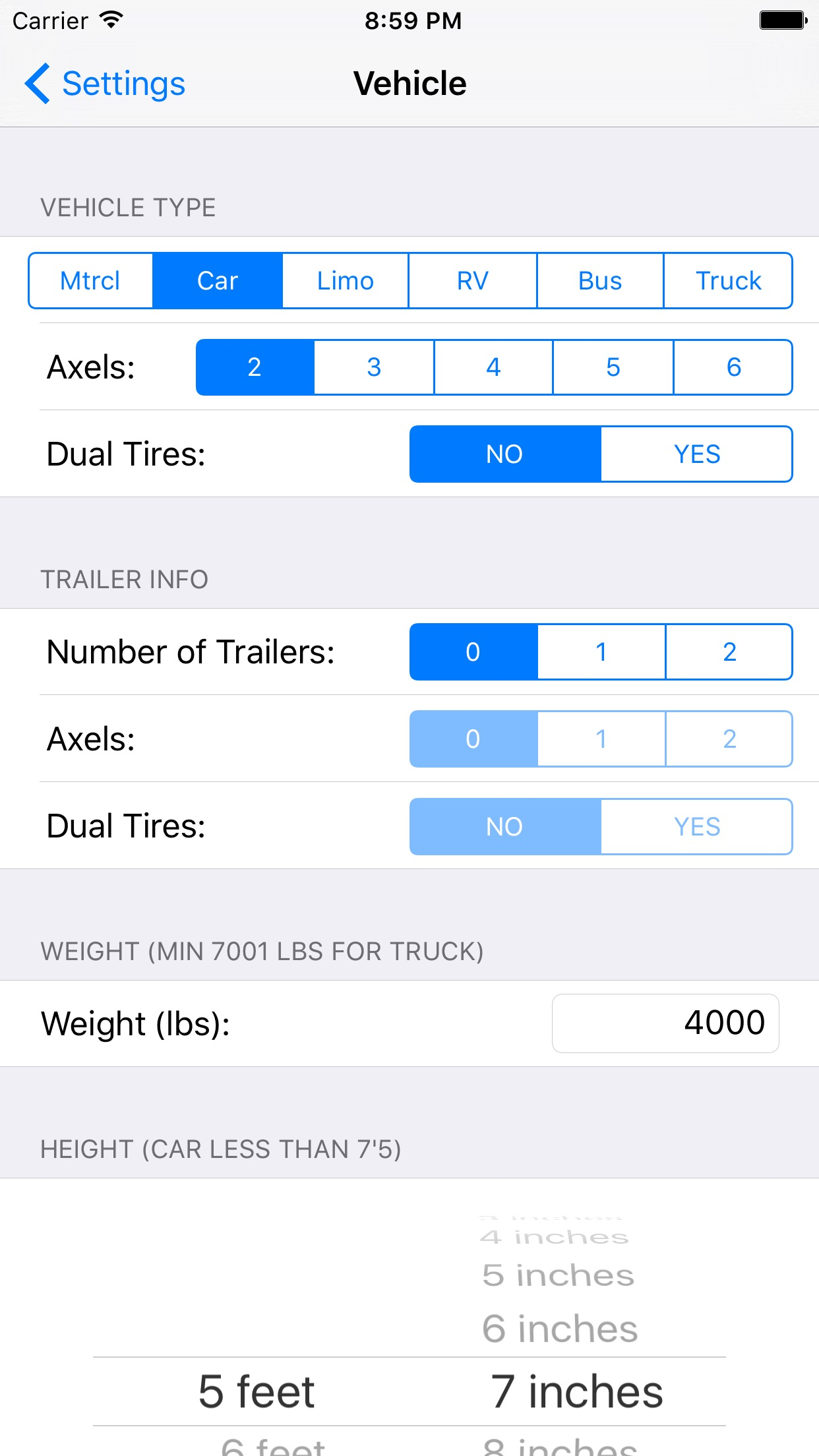 Toll Calculator - GPS Navigation Maps Truck RV Car Screenshot
