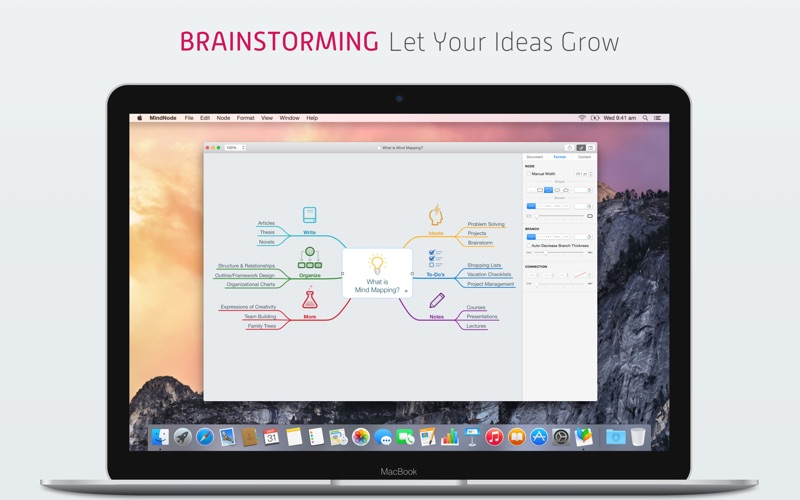MindNode 2 – Delightful Mind Mapping Screenshot