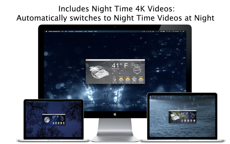 Motion Weather 4K - Ultra HD Screenshots