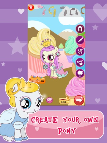 """Princess Pony Dress Up For Equestria Girls"" : My Little Pets Friendship Rock salon and Make-Up Ever Game для iPad"