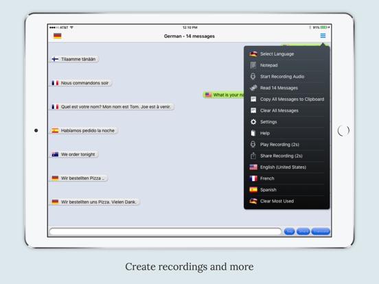 mText2Speech Translator Screenshots