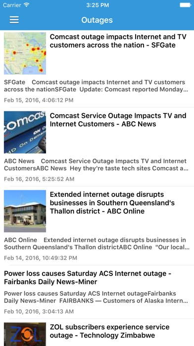 Comcast Internet Outage