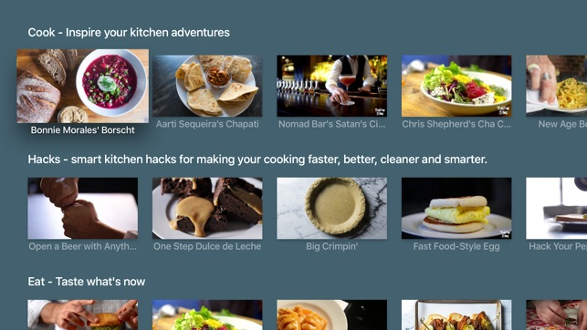 Tasting table eat cook drink recipes on the app store apple tv screenshots forumfinder Gallery