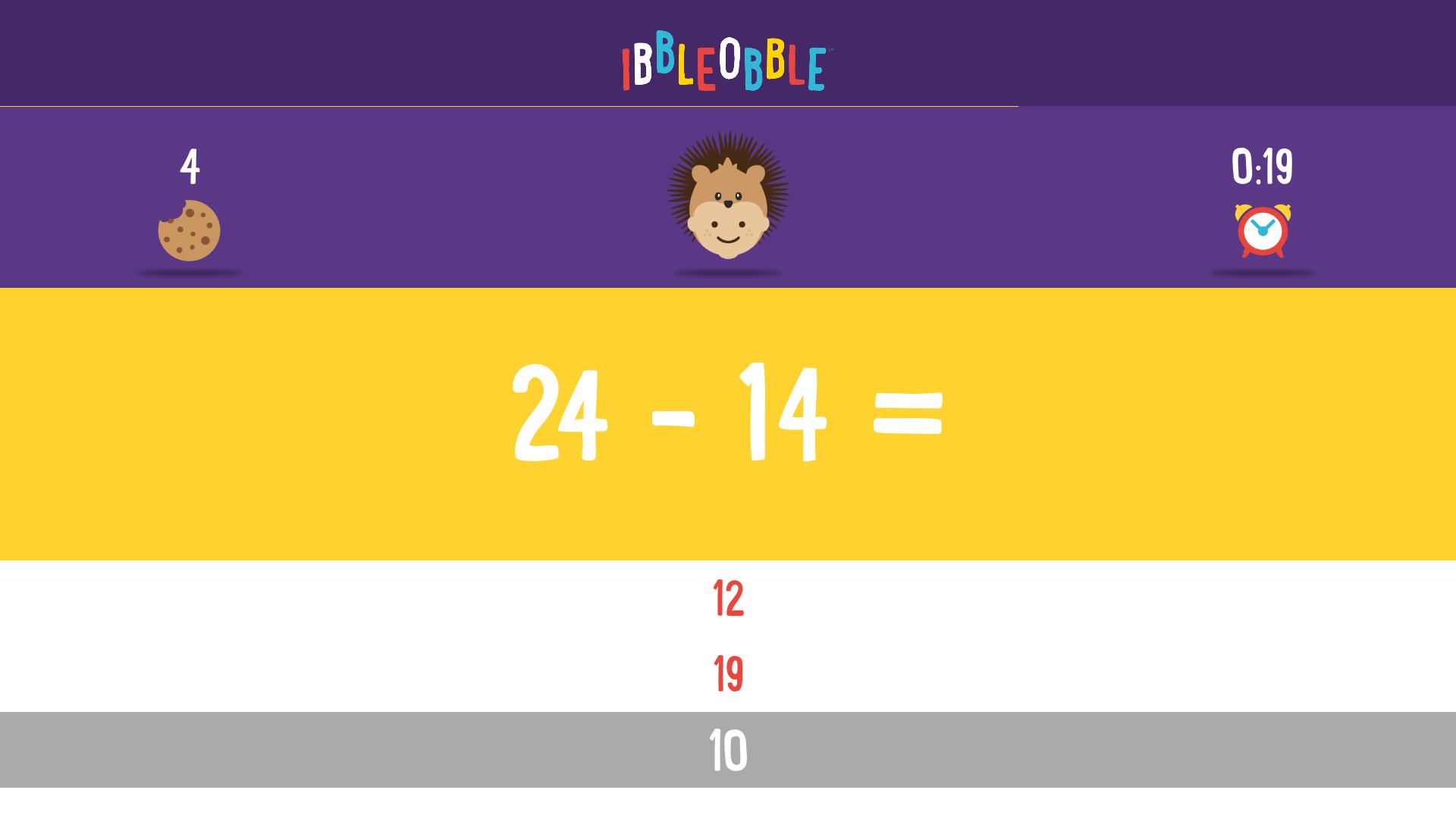 Subtraction with Ibbleobble screenshot 13