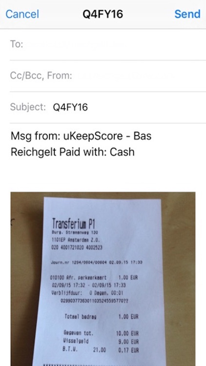 uKeepScore Receipt screenshot-4
