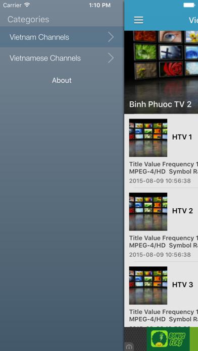 Vietnam TV Channels Sat Info screenshot one