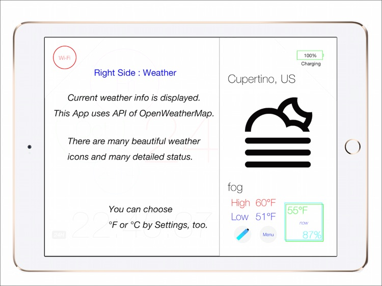 FLAT Weather Clock screenshot-4