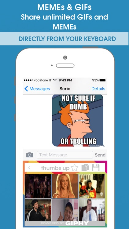 What2Share - Share Emoji, Gif and Meme from your Keyboard!
