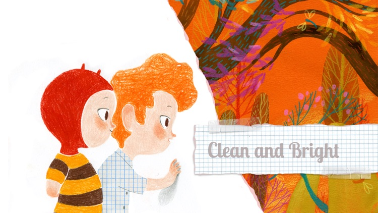 Clean and Bright - Book and games for kids