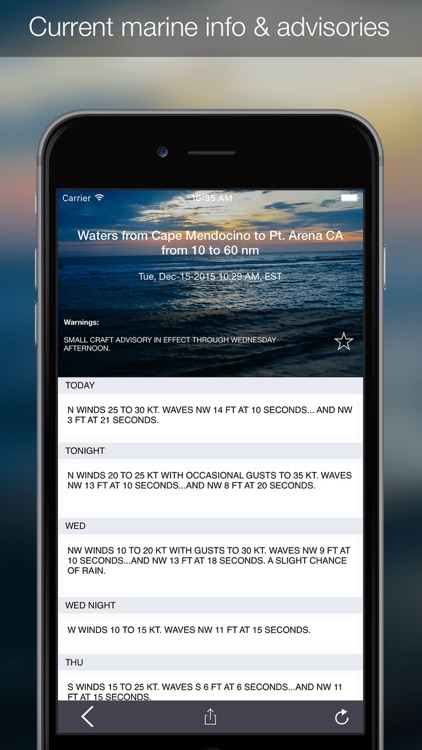 OutCast - Weather and NOAA Marine Forecasts screenshot-1