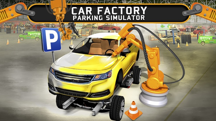 Car Factory Parking Simulator a Real Garage Repair Shop Racing Game