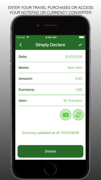 Simply Declare Travel App PRO