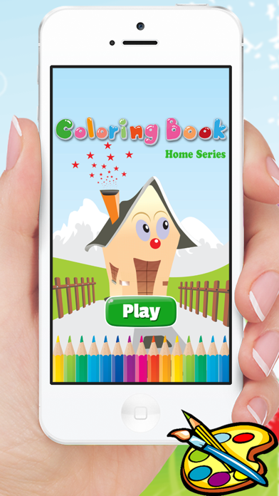 Dream House Coloring Book - Home Drawing for Kid free Games