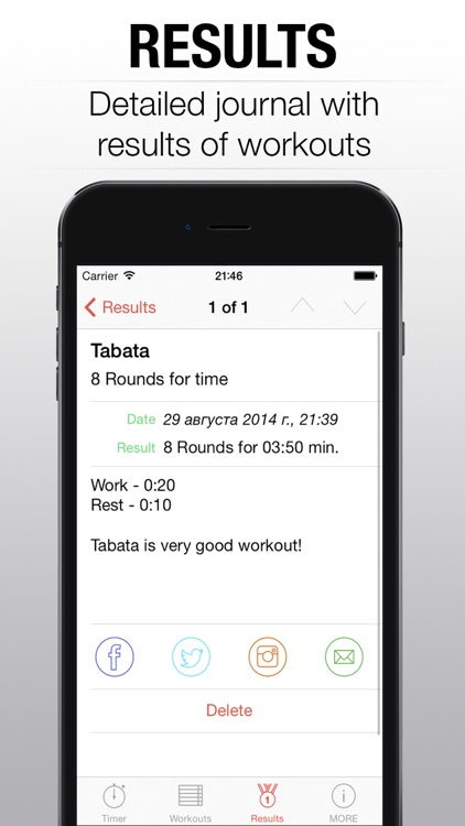 WOD Timer - interval tabata round timer for hiit training PRO screenshot-3