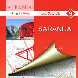 Saranda. Tourist map.