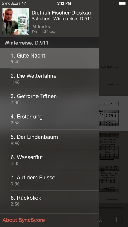 Schubert Winterreise - SyncScore