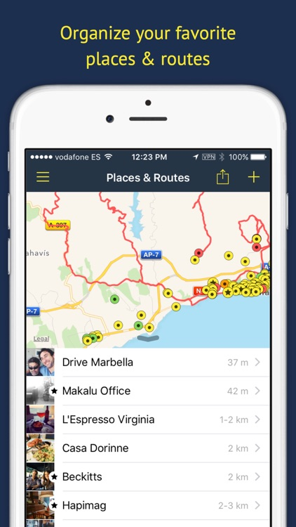 Rego Pro: Bookmarks for places screenshot-0