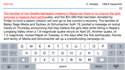News Typing screenshot two