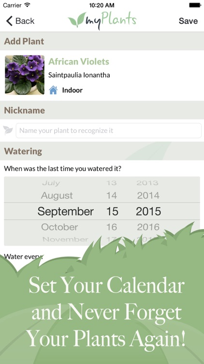 myPlants Premium   Manage tool and reminder for watering and treating your garden