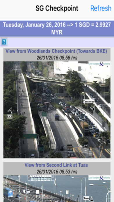 Singapore Checkpoint Traffic screenshot two