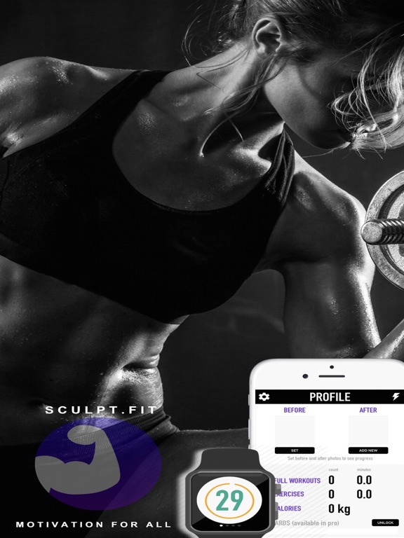 Screenshots of Sculpt Fitness - Free Bodybuilding Workout Challenge for Christmas by Sculpt.Fit for iPad