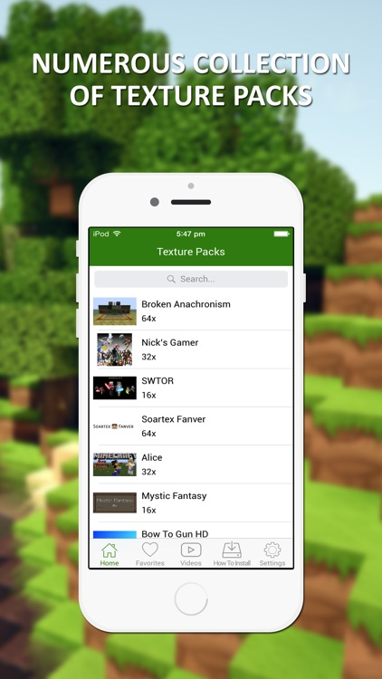 New Texture Packs - Ultimate Collection for Minecraft PE & PC