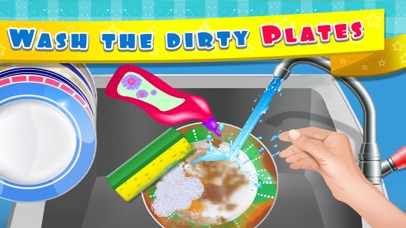 Kids Dish Washing and Cleaning Game - Free Fun Kitchen Games for Girls,Kids and Boys-1
