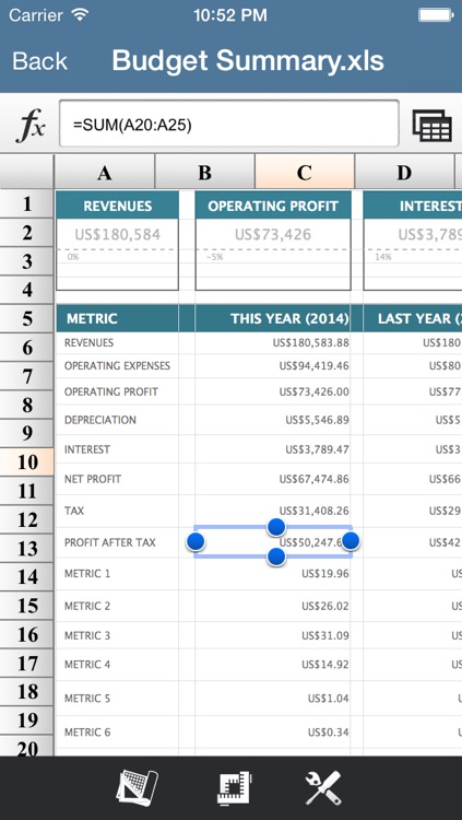 Spreadsheet Pro for MS Excel File Format