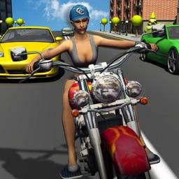 Girl Friend need for Bike Racing
