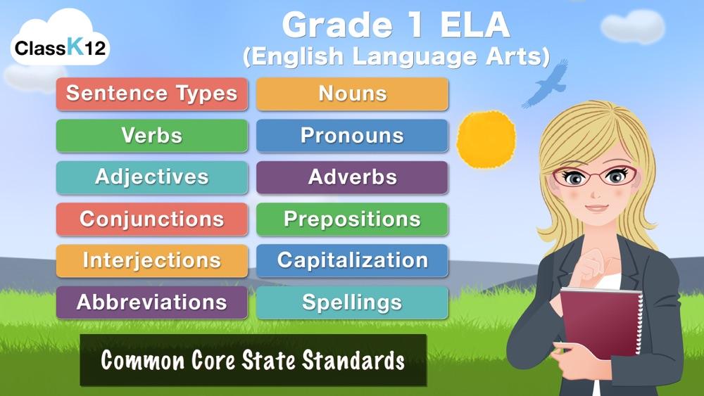First Grade Grammar by ClassK12 – A fun way to learn English Language Arts [Lite]