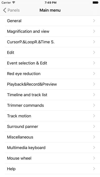 Shortcuts for Sony Vegas Pro screenshot-3