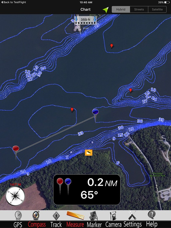 Chickamauga GPS Fishing charts Pro screenshot-0