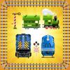 幼児のためのパズル - おもちゃの電車と教...