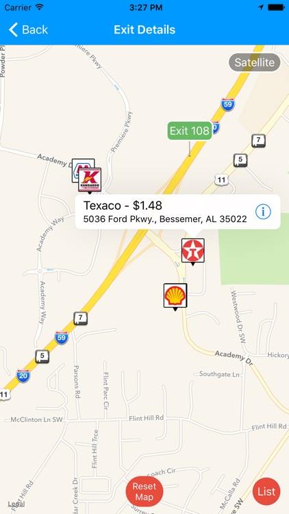 iExit Gas: Cheapest Gas Prices By Interstate Exit screenshot-4