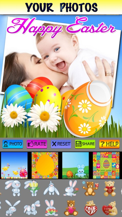 Happy Easter Photo Frames and Stickers screenshot-3