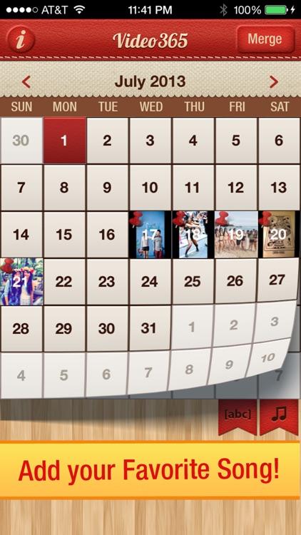 Video 365 Photo Journal daily picture diary calendar screenshot-3