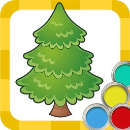Coloring pages New year & Christmas book for preschool kids - Educational games for toddlers free