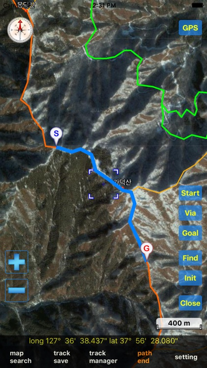 eSan Mountain GPS Track Map