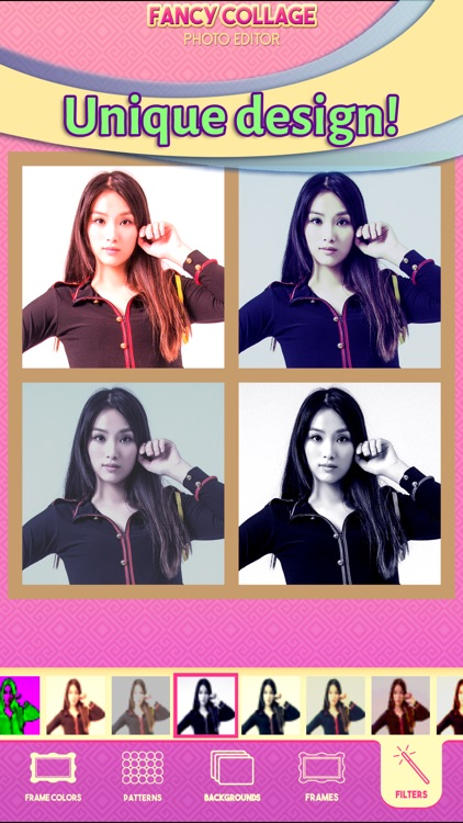 Fancy Collage Photo Editor - Stitch your Pics in Cute Grid Layouts and Add Cool Filters screenshot-3