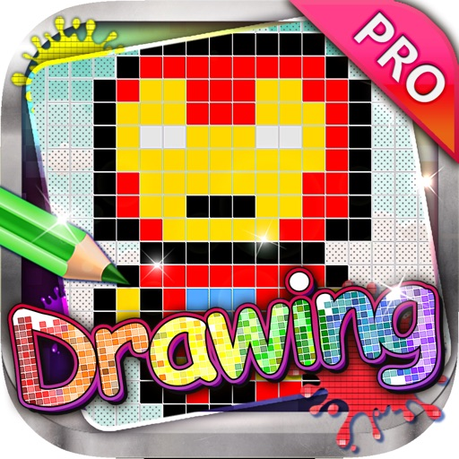 Drawing Desk : Pixel Cartoons - Draw and Paint Coloring Books Edition Pro
