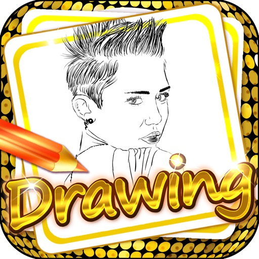 Drawing Desk Celebrity : Draw and Paint Miley Cyrus to Coloring Book Edition
